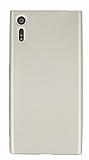 Dafoni Air Slim Sony Xperia XZ Süper İnce Mat Gold Silikon Kılıf