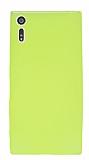 Dafoni Air Slim Sony Xperia XZ Süper İnce Mat Neon Sarı Silikon Kılıf