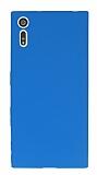Dafoni Air Slim Sony Xperia XZ Süper İnce Mat Mavi Silikon Kılıf