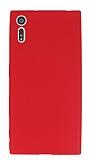 Dafoni Air Slim Sony Xperia XZ Süper İnce Mat Kırmızı Silikon Kılıf