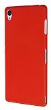 Dafoni Air Slim Sony Xperia Z3 Ultra İnce Mat Kırmızı Silikon Kılıf
