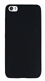 Xiaomi Mi 5 Ultra İnce Mat Siyah Silikon Kılıf