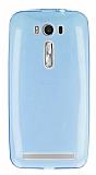 Eiroo Asus ZenFone 2 Laser 5 inç Ultra İnce Şeffaf Mavi Silikon Kılıf