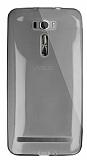 Dafoni Aircraft Asus Zenfone 2 Laser 6 inç Ultra İnce Şeffaf Siyah Silikon Kılıf