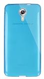 Dafoni Aircraft General Mobile Android One / General Mobile GM 5 Ultra İnce Şeffaf Mavi Silikon Kılıf
