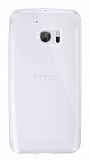 Dafoni Aircraft HTC 10 Ultra İnce Şeffaf Silikon Kılıf
