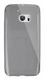 Dafoni Aircraft HTC 10 Ultra İnce Şeffaf Siyah Silikon Kılıf