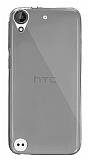 Dafoni Aircraft HTC Desire 530 Ultra İnce Şeffaf Siyah Silikon Kılıf