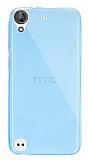 Dafoni Aircraft HTC Desire 530 Ultra İnce Şeffaf Mavi Silikon Kılıf