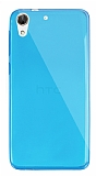 Dafoni Aircraft HTC Desire 728G Ultra İnce Şeffaf Mavi Silikon Kılıf