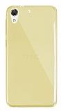 Dafoni Aircraft HTC Desire 728G Ultra İnce Şeffaf Gold Silikon Kılıf