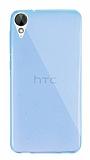 Dafoni Aircraft HTC Desire 825 / Desire 10 Lifestyle Ultra İnce Şeffaf Mavi Silikon Kılıf