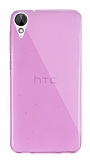 Dafoni Aircraft HTC Desire 825 / Desire 10 Lifestyle Ultra İnce Şeffaf Pembe Silikon Kılıf