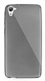 Dafoni Aircraft HTC Desire 826 Ultra İnce Şeffaf Siyah Silikon Kılıf