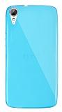 Dafoni Aircraft HTC Desire 828 Ultra İnce Şeffaf Mavi Silikon Kılıf