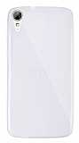 Dafoni Aircraft HTC Desire 828 Ultra İnce Şeffaf Silikon Kılıf
