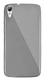 Dafoni Aircraft HTC Desire 828 Ultra İnce Şeffaf Siyah Silikon Kılıf