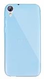 Dafoni Aircraft HTC Desire 830 Ultra İnce Şeffaf Mavi Silikon Kılıf