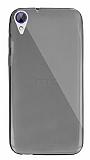 Dafoni Aircraft HTC Desire 830 Ultra İnce Şeffaf Siyah Silikon Kılıf