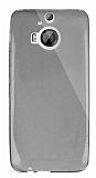 Dafoni Aircraft HTC One M9 Plus Ultra İnce Şeffaf Siyah Silikon Kılıf