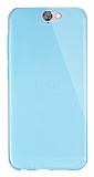 Dafoni Aircraft HTC One A9 Ultra İnce Şeffaf Mavi Silikon Kılıf