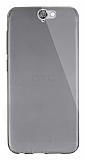 Dafoni Aircraft HTC One A9 Ultra İnce Şeffaf Siyah Silikon Kılıf