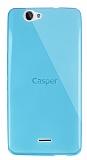 Dafoni Aircraft Casper Via V5 Ultra İnce Şeffaf Mavi Silikon Kılıf