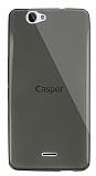 Dafoni Aircraft Casper Via V5 Ultra İnce Şeffaf Siyah Silikon Kılıf