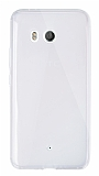 Dafoni Aircraft HTC U11 Ultra İnce Şeffaf Silikon Kılıf