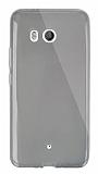 Dafoni Aircraft HTC U11 Ultra İnce Şeffaf Siyah Silikon Kılıf