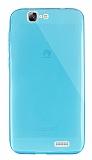 Dafoni Aircraft Huawei Ascend G7 Ultra İnce Şeffaf Mavi Silikon Kılıf