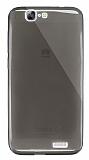 Dafoni Aircraft Huawei Ascend G7 Ultra İnce Şeffaf Siyah Silikon Kılıf