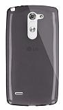 Dafoni Aircraft LG G3 Stylus Ultra �nce �effaf Siyah Silikon K�l�f