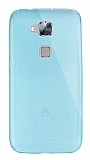 Dafoni Aircraft Huawei G8 Ultra İnce Şeffaf Mavi Silikon Kılıf