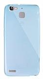 Dafoni Aircraft Huawei GR3 Ultra İnce Şeffaf Mavi Silikon Kılıf