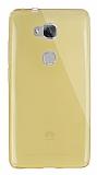 Dafoni Aircraft Huawei GR5 Ultra İnce Şeffaf Gold Silikon Kılıf