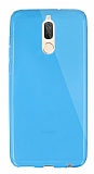 Dafoni Aircraft Huawei Mate 10 Lite Ultra İnce Şeffaf Mavi Silikon Kılıf