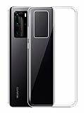 Dafoni Aircraft Huawei P40 İnce Şeffaf Silikon Kılıf