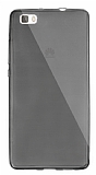 Dafoni Aircraft Huawei P8 Lite İnce Şeffaf Siyah Silikon Kılıf