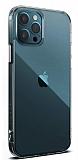 Dafoni Aircraft iPhone 12 / iPhone 12 Pro 6.1 inç Ultra İnce Şeffaf Silikon Kılıf
