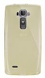 Dafoni Aircraft LG G Flex 2 Ultra İnce Şeffaf Gold Silikon Kılıf