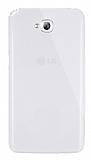 Dafoni Aircraft LG G Pro Lite Ultra �nce �effaf Beyaz Silikon K�l�f