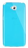 Dafoni Aircraft LG G Pro Lite Ultra �nce �effaf Mavi Silikon K�l�f