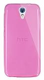 Dafoni Aircraft HTC Desire 620 Ultra İnce Pembe Silikon Kılıf