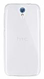 Dafoni Aircraft HTC Desire 620 Ultra İnce Şeffaf Silikon Kılıf