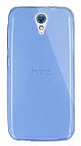 Dafoni Aircraft HTC Desire 620 Ultra İnce Mavi Silikon Kılıf