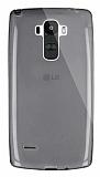 Dafoni Aircraft LG G4 Stylus Ultra İnce Şeffaf Siyah Silikon Kılıf