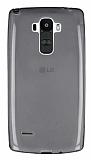 LG G4 Stylus Ultra İnce Şeffaf Siyah Silikon Kılıf