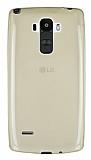 LG G4 Stylus Ultra İnce Şeffaf Gold Silikon Kılıf