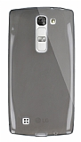 Dafoni Aircraft LG G4c Ultra İnce Şeffaf Siyah Silikon Kılıf